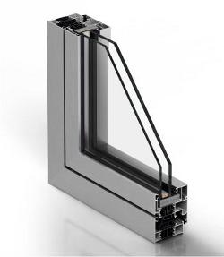 Sección ventana con doble acristalamiento